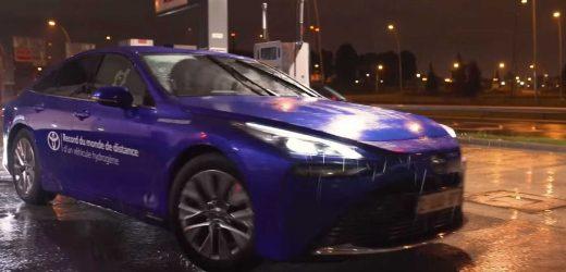 Combustível Do Futuro: Toyota A Hidrogênio Roda Mil Km Na França E Bate Recorde