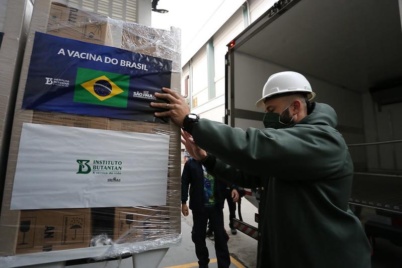 SP Inicia Entrega Do Novo Lote De 5 Milhões De Vacinas Do Butantan Ao Brasil